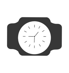 silhouette classic analog watch wearable vector image