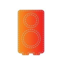 Speaker sign Orange applique vector image vector image