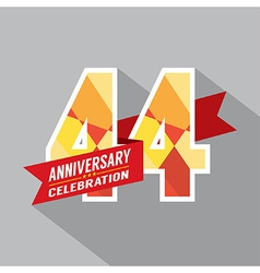 44th years anniversary celebration design vector