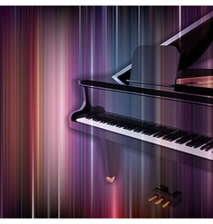 abstract blue music background with grand piano vector image vector image