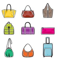 Bags icon set vector image vector image