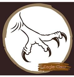 Eagle claw 1 vector image vector image