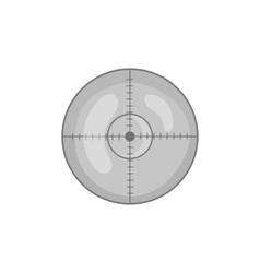 Optical sight icon black monochrome style vector image vector image