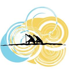Rowing vector image
