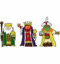 the three wise men vector image vector image