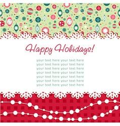 Decorative Christmas postcard on seamless vector image vector image