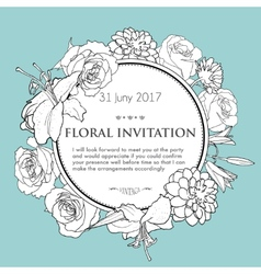 Foral background for wedding birthday invitation vector image vector image
