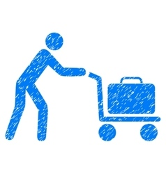 Passenger trolley grainy texture icon vector
