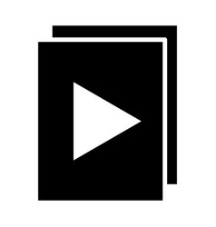 96x96icon audio or video files with play button vector image