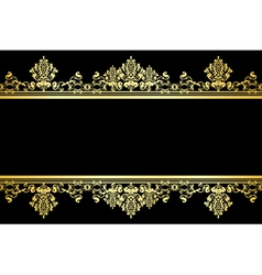 black and gold background vector image vector image