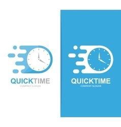 fast clock logo combination Speed timer vector image
