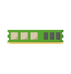 Memory slot vector image vector image