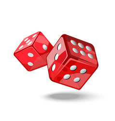 red game dice in flight vector image