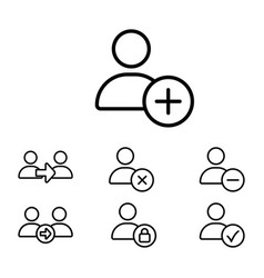 thin line user icon vector image