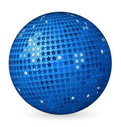 Abstract ball blue with stars vector