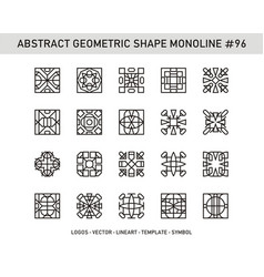 Abstract geometric shape monoline 96 vector