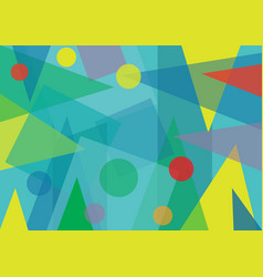 Abstract transparent geometric shapes background vector