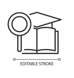 Academic research talent linear icon vector