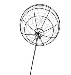 Air balloon outline vector