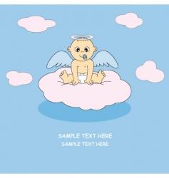 angel baby boy vector image