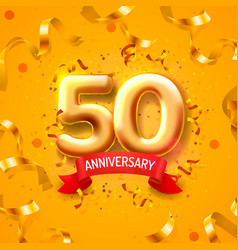 anniversary ceremony balloons 50 numbers vector image
