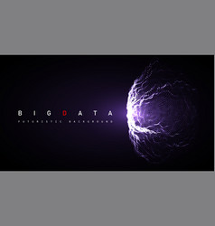 big data abstract digital sphere explosion vector image