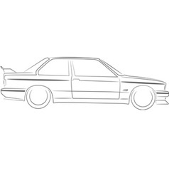 BMW E30 M3 vector
