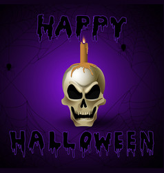 bright graffiti of skull vector image