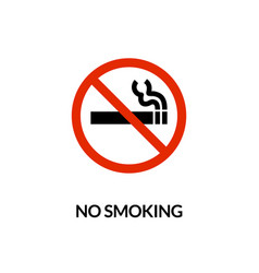 cigarette symbol icon no smoking forbidden vector image