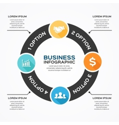 Circle diagram infographic for business vector