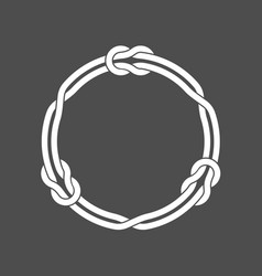 circle frame with knots and three linked loop vector image
