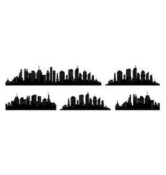 city silhouette set panorama city vector image