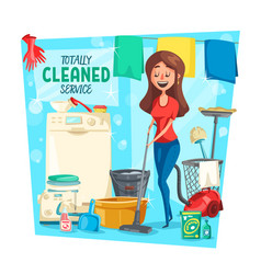 cleaning laundry and housework service vector image