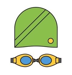 Cloth swimmer sportswear vector image