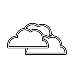 Cloud design isolated weather icon vector