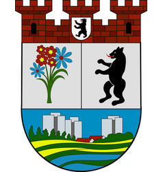 Coat of arms of hellersdorf in berlin germany vector