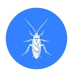 Cockroach icon in black style isolated on white vector image