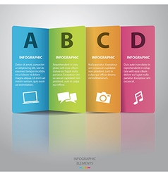 Colorful paper Infographic vector image
