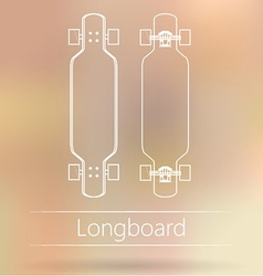 Contour ad layout for longboard vector