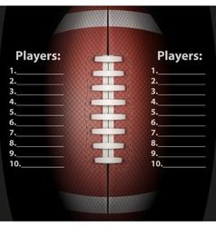 dark background american football ball vector image