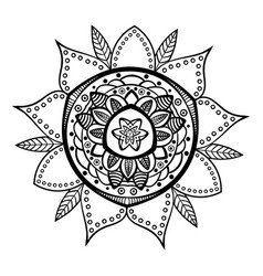 Decorative hand drawn mandala ethnic decorative vector