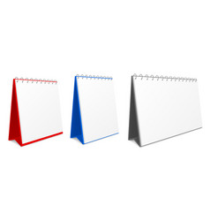 Desk calendar mockup to make a schedule routine vector