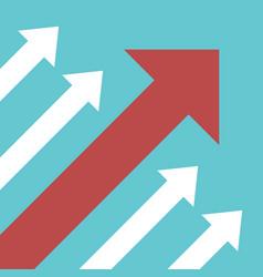diagonal arrows competition concept vector image