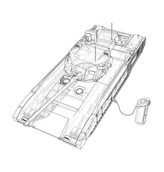 Electric tank charging station sketch vector