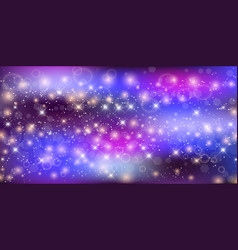Fantastic starry night sky galaxy rectangle vector