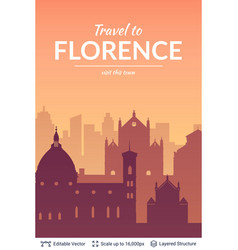 florence famous city scape vector image