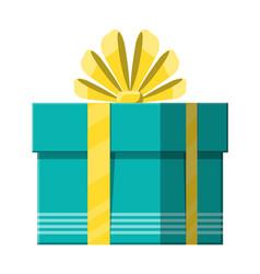 gift box on white vector image