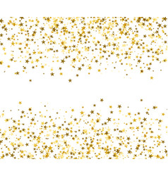 golden stars with blank space in the center vector image