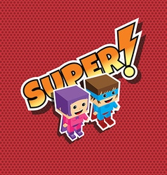 great superhero couple vector image