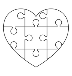 puzzle piece heart vector images over 310 rh vectorstock com human heart puzzle template love heart puzzle template